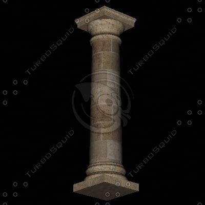3ds max columna cantera