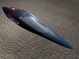 speeder hover car 3d model