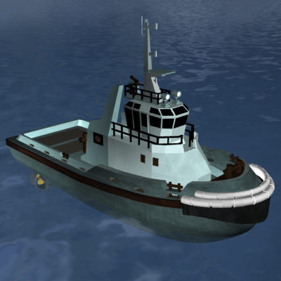 tugboat water 3d model