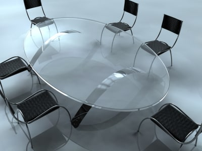 3d model office conference chairs