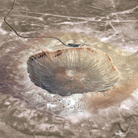 barringer crater meteor arizona 3d model