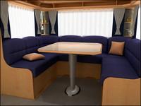 3ds max interior caravan