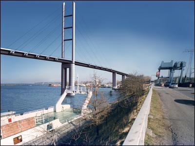 bridge city traffic 3d model