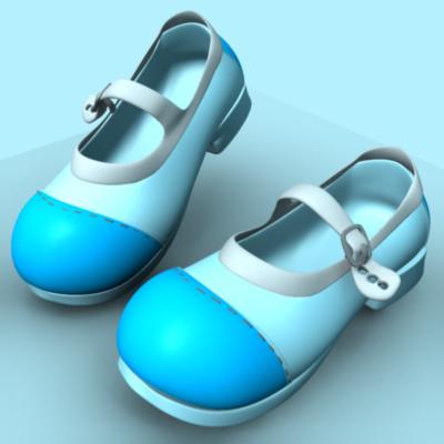 3d model children boots