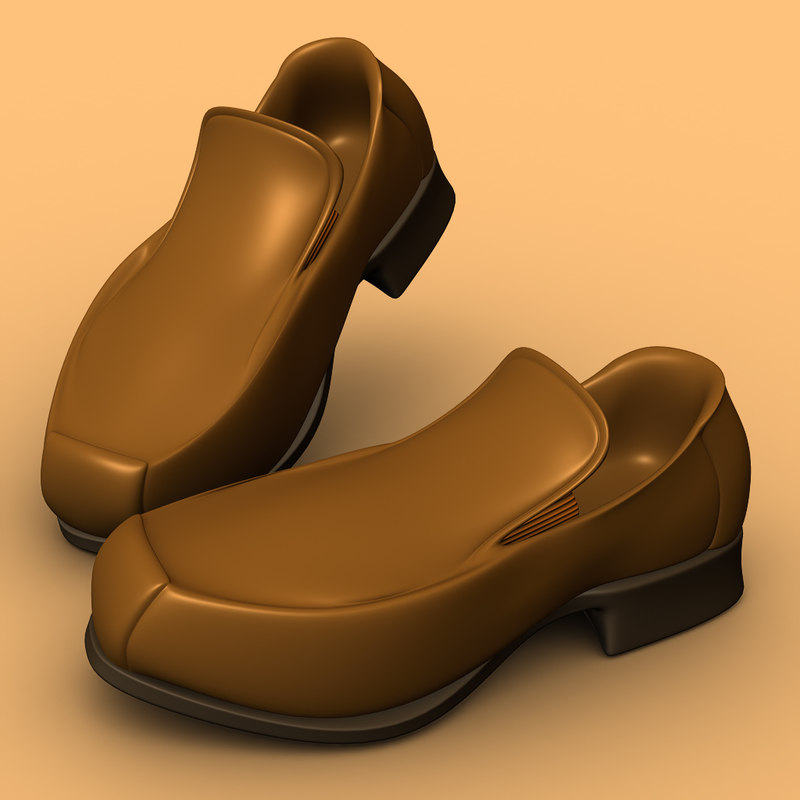 3d man shoes model