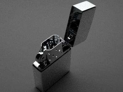 clean zippo lighter 3d max