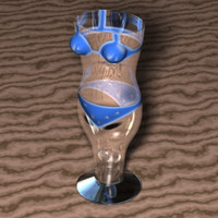 souvenir drinking glass bikini 3d model
