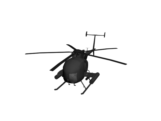 3d model ah6 attack helicopter
