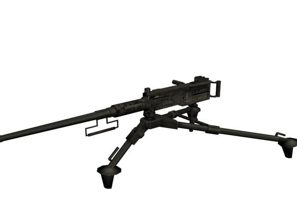 free 3ds model gun mounted