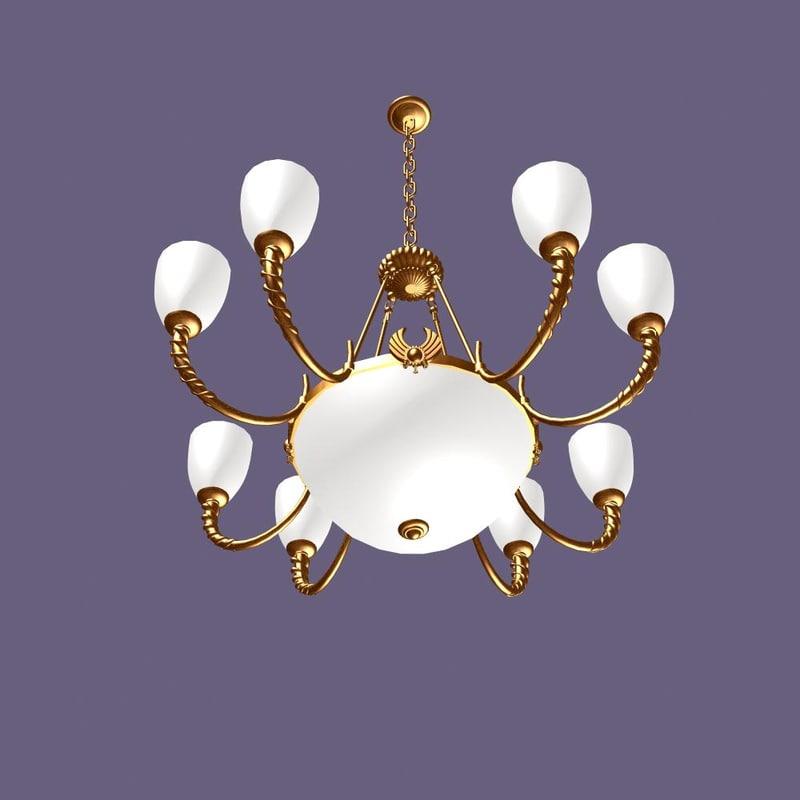 3d chandelier light model