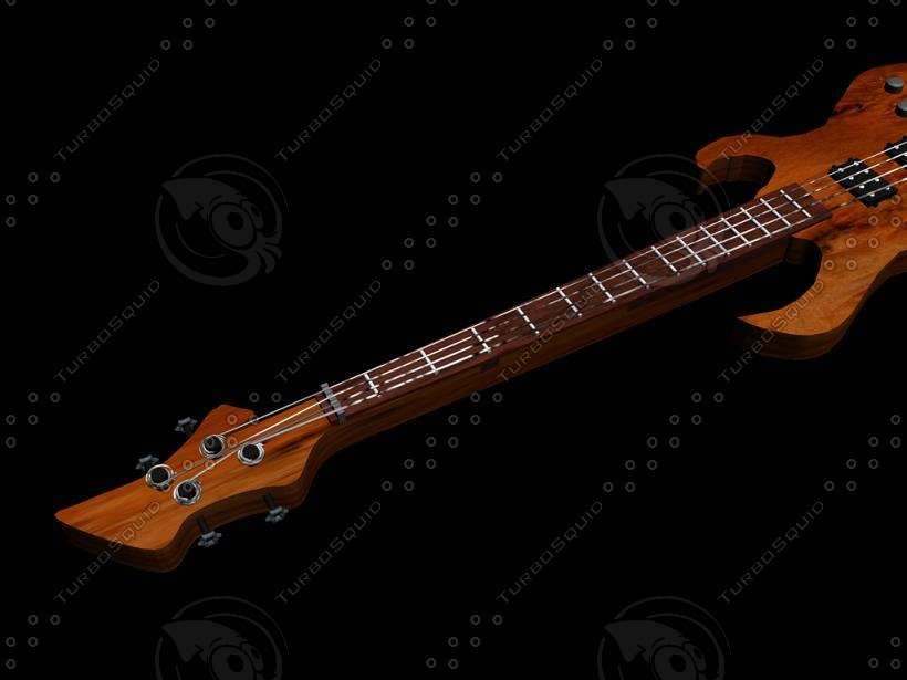 3d buss guitar model