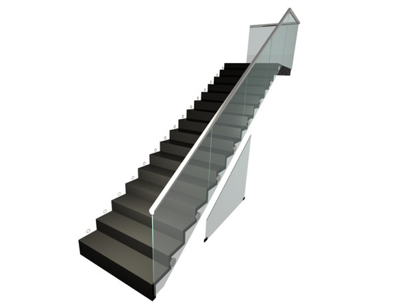3d staircase spots lights model