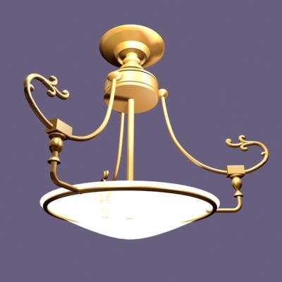 3d max chandelier light