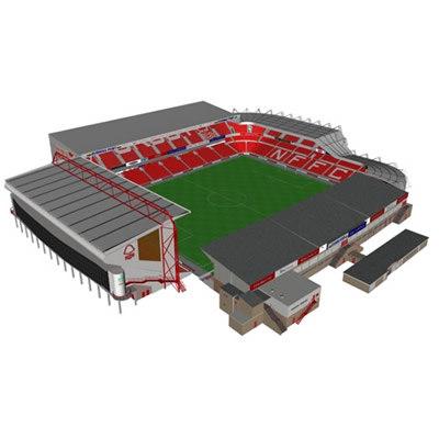 3d model city ground stadium