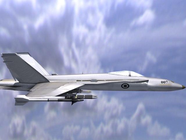 lightwave f-18 obj