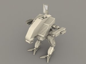 mech vulture mechwarrior 3d model