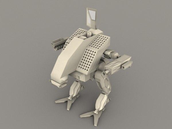 mech vulture mechwarrior 3d model