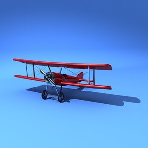 sopwith pup biplane plane 3d model