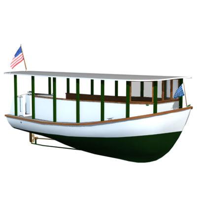 ethan allen boat 3d model