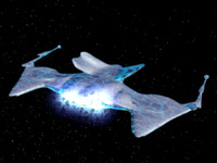 free crystalline ship space 3d model
