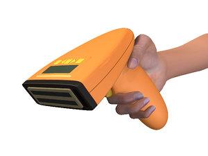3d handheld scanner gun