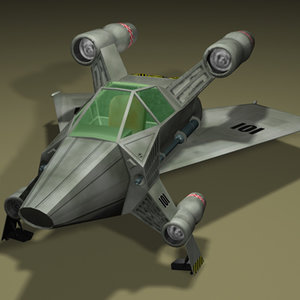 starfighter futuristic fighter 3d model