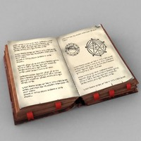 old magic book 3d model