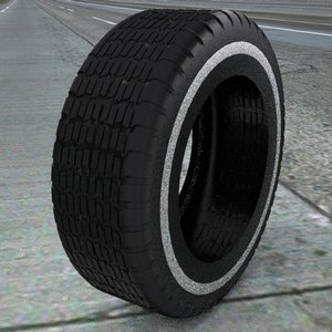 3d model of tire treads