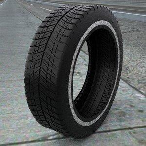 3d model tire treads