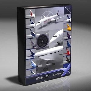 787 dreamliner 3d model