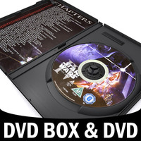 dvd box disk case 3d model