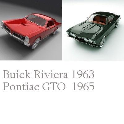 riviera pontiac gto 3d model