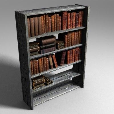 book bookshelf 3ds