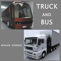 truck bus 3d 3ds