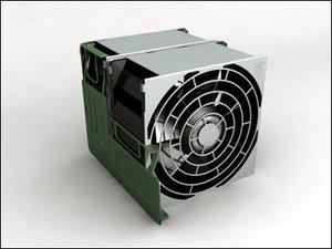 3d model fan computer parts