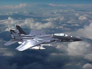 f15 jet fighter 3d model