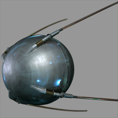 sputnik satellite 3d model