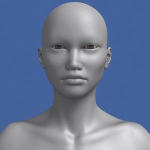 max polygonal asian female lightwave human
