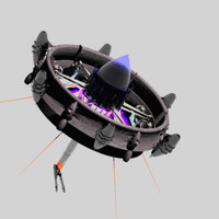 drone weapon carbon 3d model