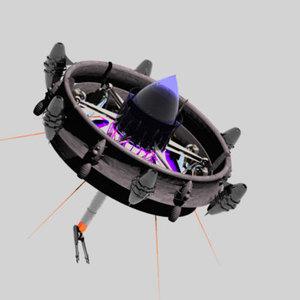 drone weapon carbon 3d model