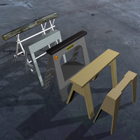 sawhorses kit 5 3d model