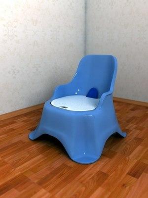 3d model child chair chamber-pot