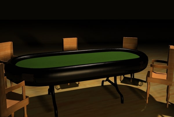 3d lightwave poker table chairs