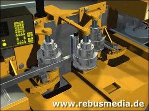 3d model of machine bend