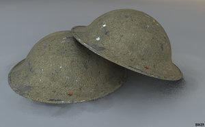 british helmet wwii c4d