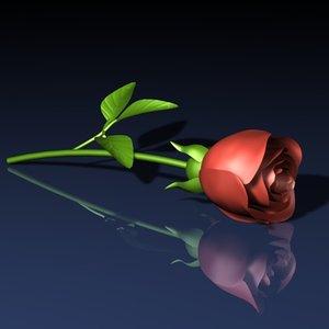 free rose flower 3d model