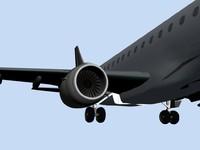 embraer 170 plane aircraft 3d 3ds