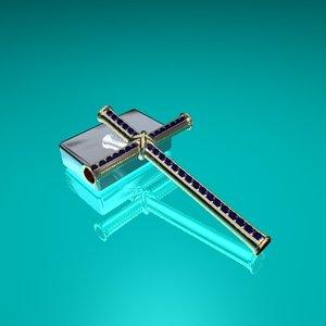saphire cross 3d model