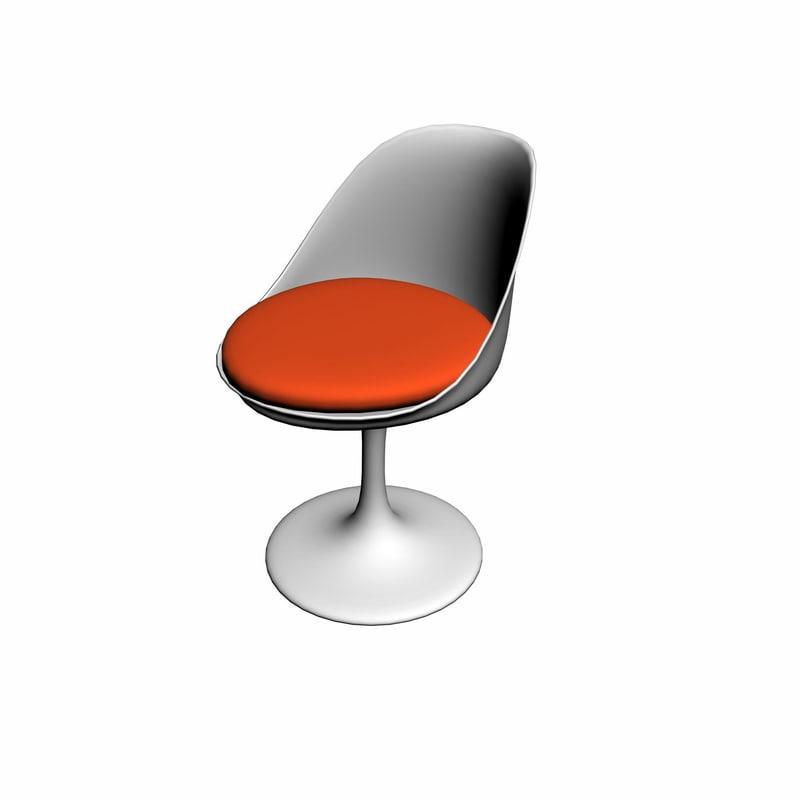 3d knoll tulip chair design