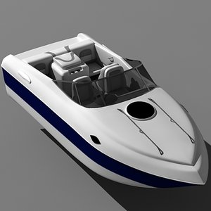 195cx motor boat 3d model